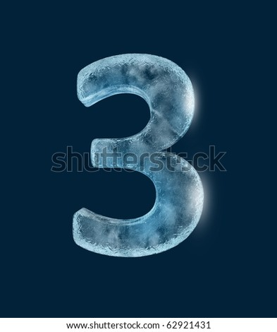 Icing alphabet the number 3 - stock photo