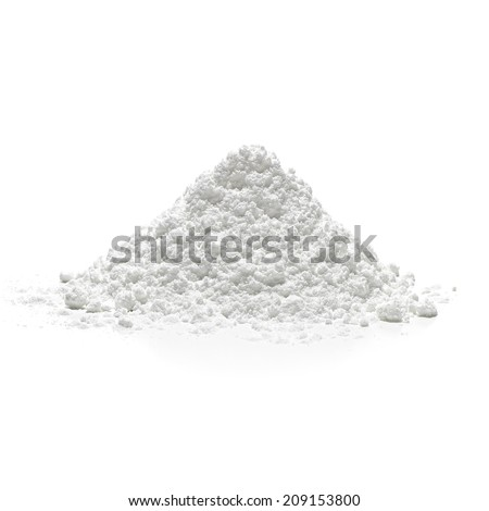 Icing sugar pile side view - stock photo