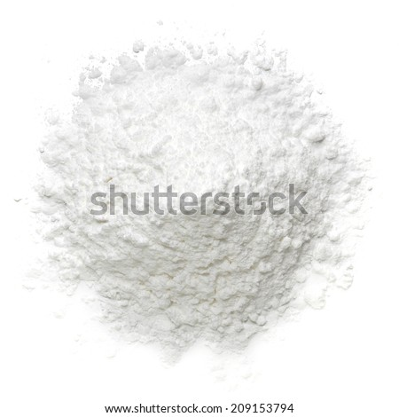 Icing sugar pile top view - stock photo