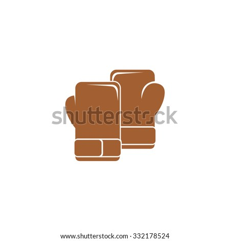 Icon  boxing gloves. - stock photo