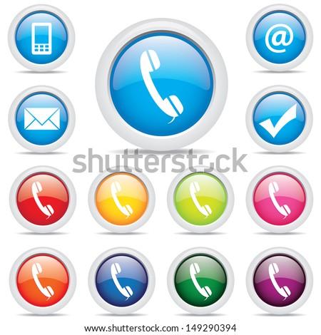 icon business pack set symbol - stock photo