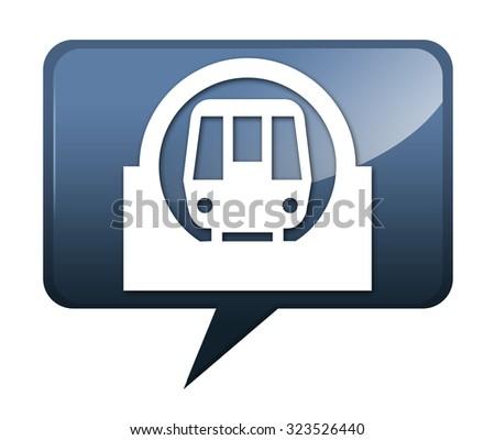 Icon Button Pictogram Subway Symbol Stock Illustration 323526440