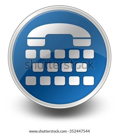Icon, Button, Pictogram with Telephone Typewriter symbol - stock photo