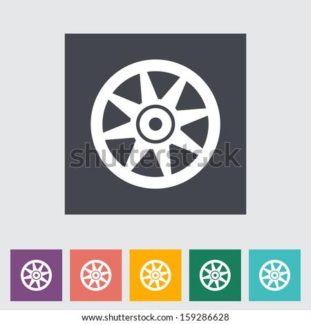 Icon Car drive disk.  - stock photo