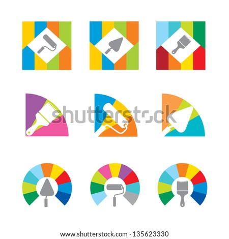 icon colored instrument (Raster copy of vector) - stock photo