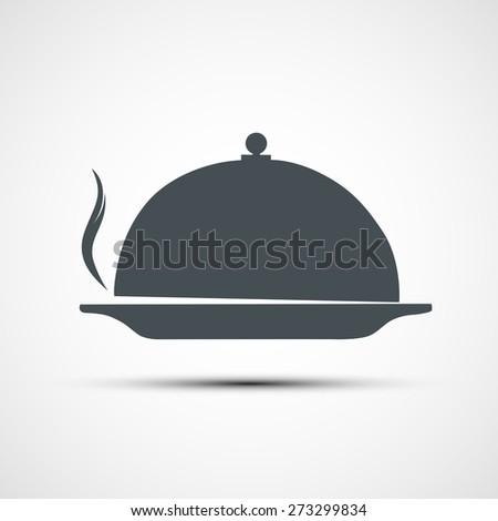 icon dishes - stock photo