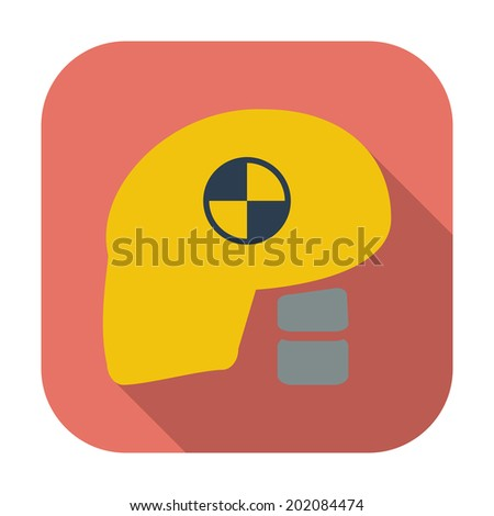 Icon dummy's head for crash test.  - stock photo