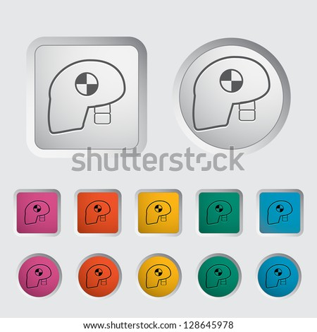Icon dummy's head for crash test. Vector version also available in my portfolio. - stock photo