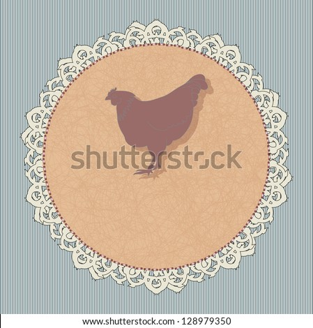 Icon for a restaurant - chicken. Rasterized version. - stock photo