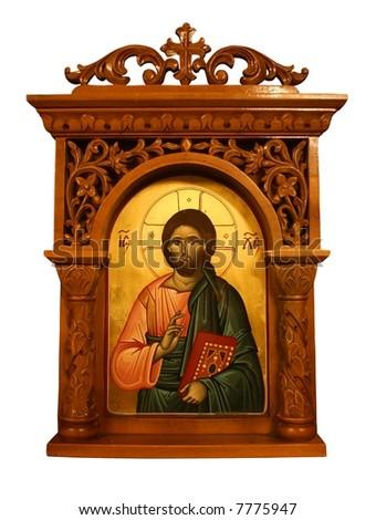 icon greece Jesus - stock photo