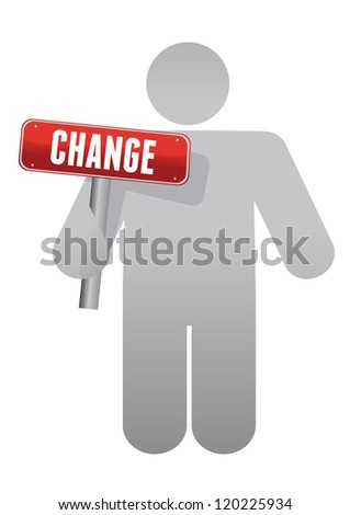 icon holding a change sign illustration design