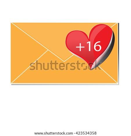 Icon mail isolated envelope symbol sign on background  - stock photo