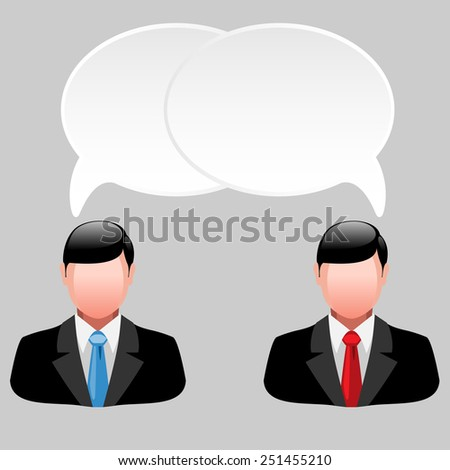 Icon of business men with thoughts and ideas. illustration - stock photo