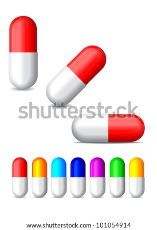 icon of colored tablets