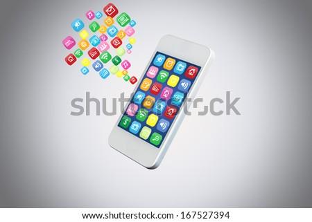 icon on Mobile - stock photo
