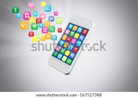 icon on Mobile icons - stock photo