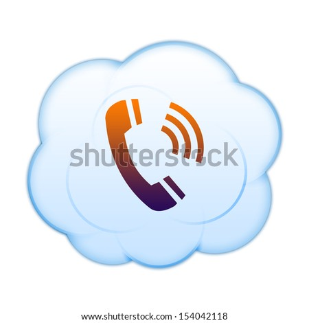 Icon on the clouds - stock photo