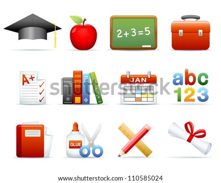 Icon Set - Education - stock photo