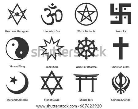 religious symbols stock images  royalty free images Colorful Yin Yang Black and White Ying Yang