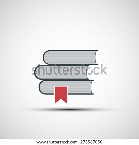 icon stacks of books - stock photo