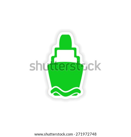 icon sticker realistic design on paper lighthouse  - stock photo