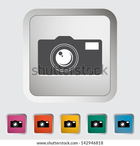 Icon vintage camera. Vector version also available in my portfolio. - stock photo