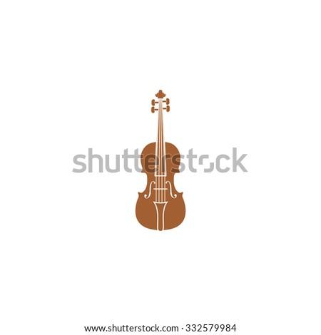 Icon violin. - stock photo