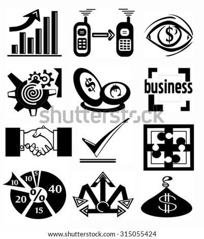 Icons Business - stock photo