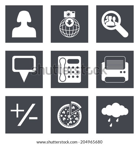 Icons for Web Design and Mobile Applications set 49.  - stock photo