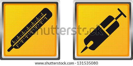 icons medicine for design illustration isolated on white background - stock photo