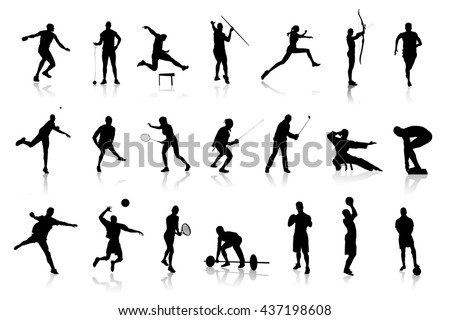 Icons of different s silhouettes representing different sports