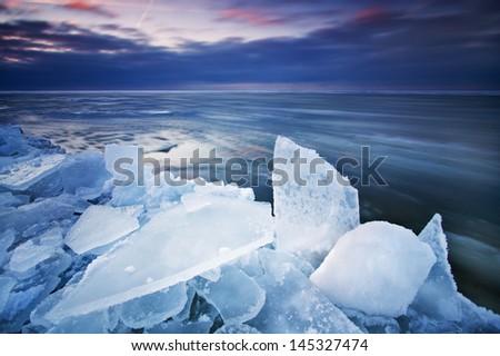 Icy Sea - stock photo