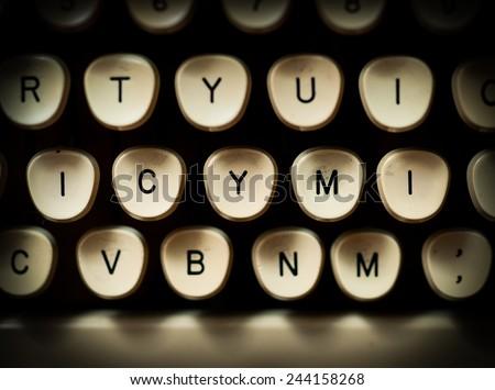 ICYMI internet slang - stock photo
