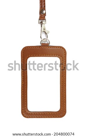 id card holder/leather id card holder  - stock photo