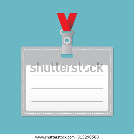 ID card or Lanyard with Tag Badge Holder.