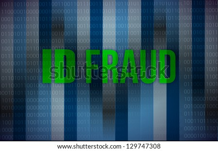 ID fraud binary background illustration design graphic - stock photo