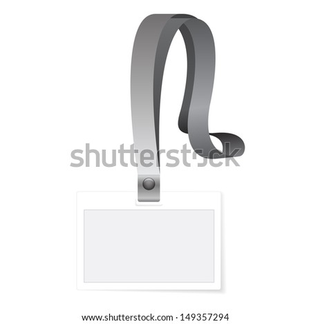 Id Holder or Card Name isolated on white - stock photo