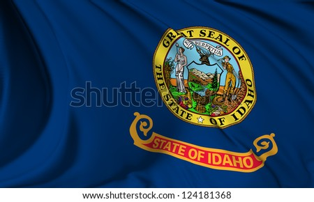 Idaho flag - USA state flags collection no_3 - stock photo