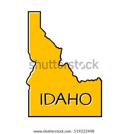 Idaho map illustration