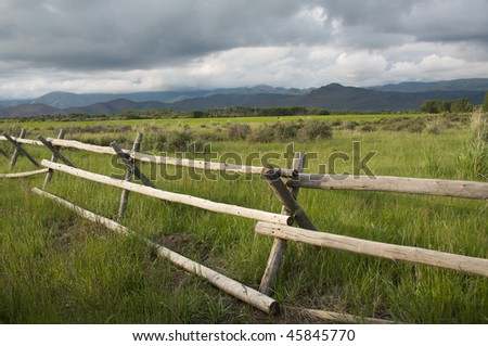 Idaho Ranch - stock photo