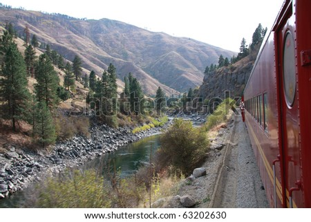 Idaho train - stock photo