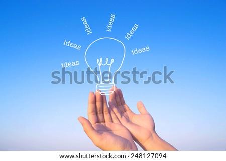 idea and inspiration concept - stock photo