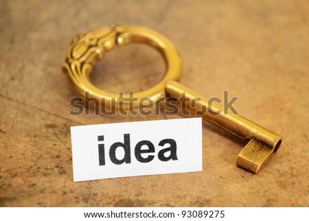 Idea and key concept - stock photo