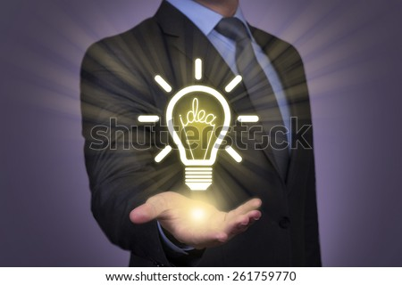 Idea Choose on Touch Visual Screen - stock photo