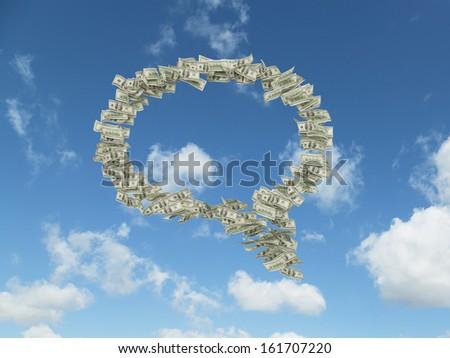 Idea cloud - stock photo