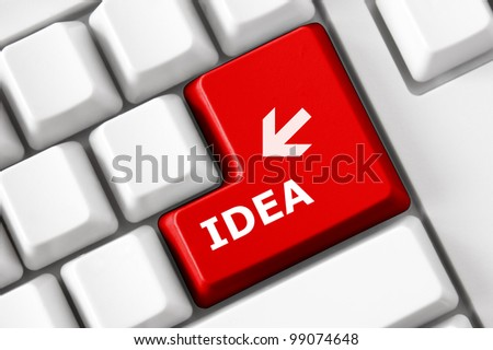 Idea concept on the modern keyboard - stock photo