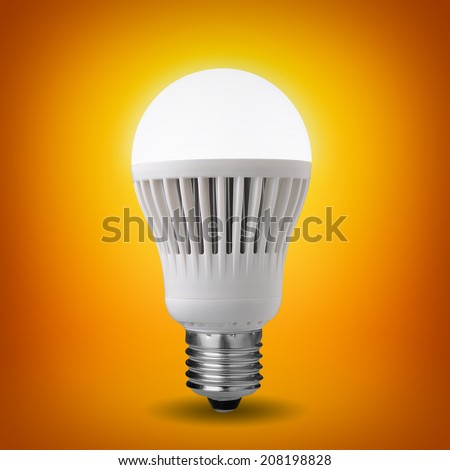 Idea concept with glowing led bulb  - stock photo