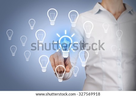 Idea Concepts Light Bulb on Touch Screen