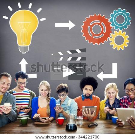 Idea Connecting Connection Inspiration Innovation Creative Concept - stock photo