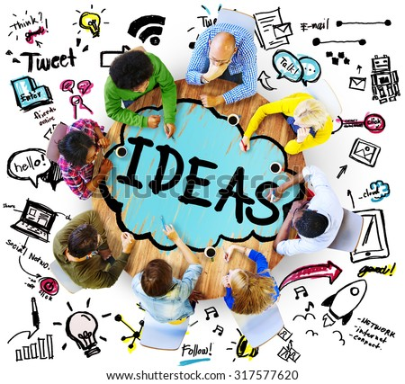 Idea Creative Creativity Imagination Innovate Thinking Concept - stock photo
